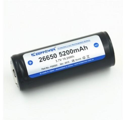 Keeppower 26650 - 5200mAh, 3.6V - 3.7V, (10A) Li-ion battery PCB με προστασία