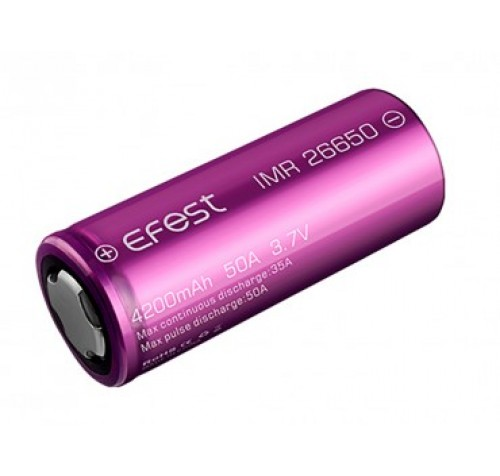 Efest Purple IMR26650 4200mAh, 3,7V