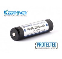 Keeppower 18650 Li-ion 3500 mAh Με προστασία.
