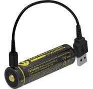 ΜΠΑΤΑΡΙΑ NITECORE 18650 / 3400mAh / Micro USB