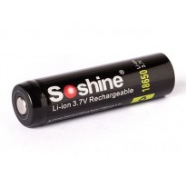 Soshine 18650 3400mAh 3,6V - 3,7V Li-Ion button top με προστασία