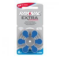 Rayovac Extra Advanced 675 / PR44 Zinc-air μπαταριες ακουστικών βαρηκοϊας  6τεμ.