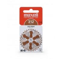Maxell PR312 / 312 / PR41 Zinc-air μπαταρίες ακουστικών βαρηκοΐας 6τεμ