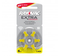 Rayovac Extra Advanced 10 / PR70  Zinc-air μπαταριες ακουστικών βαρηκοϊας  6τεμ.