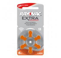 Rayovac Extra Advanced 13 / PR48  Zinc-air μπαταριες ακουστικών βαρηκοϊας  6τεμ.