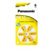 PANASONIC μπαταρίες ακουστικών βαρηκοΐας PR10, 6τμχ