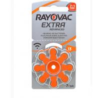 ΠΡΟΣΦΟΡΑ!!! 8 ΤΕΜ Rayovac Extra Advanced 13 / PR70 Zinc-air μπαταρίες ακουστικών βαρηκοΐας
