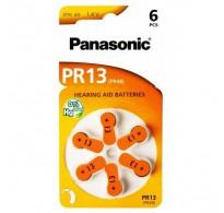 PANASONIC μπαταρίες ακουστικών βαρηκοΐας PR13, 6τμχ