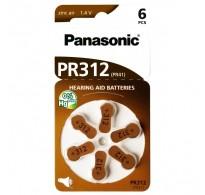 PANASONIC μπαταρίες ακουστικών βαρηκοΐας PR312, 6τμχ