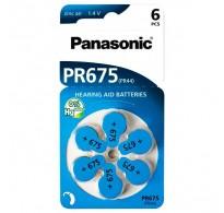 PANASONIC μπαταρίες ακουστικών βαρηκοΐας PR675, 6τμχ
