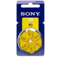 SONY 10 / PR10 Hearing Aid μπαταριες ακουστικών βαρηκοϊας  6τεμ.