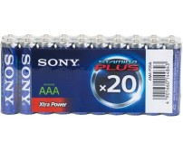 Sony AM4-P20A 20x AAA Alkaline Plus Batteries