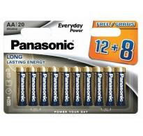 Panasonic ενισχυμένη αλκαλική Lr6 AA 20τεμ