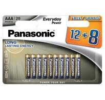 Panasonic ενισχυμένη αλκαλική Lr03 AAA 20τεμ