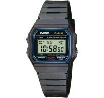 Casio Ψηφιακό Ρολόι με Καουτσούκ Λουράκι σε Μαύρο χρώμα