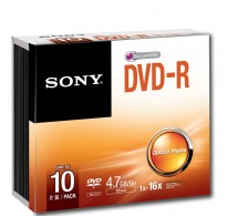 Sony DVD-R 4,7GB 16X Speed 10 Tεμ