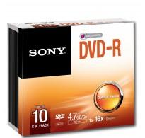 Sony DVD-R 4,7GB 16X Speed 10 Tεμ