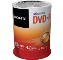 SONY DVD-R 4,7GB 120MIN 16X CAKEBOX 100PCS