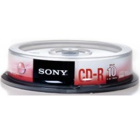 Sony CD-R 700MB 48X Speed 10 Tεμ
