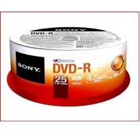 SONY DVD-R 4,7GB 16X CAKEBOX 25TEM