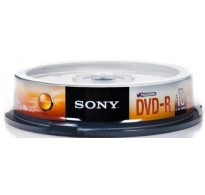 SONY DVD-R 4.7GB X16 10 ΤΕΜ CAKEBOX