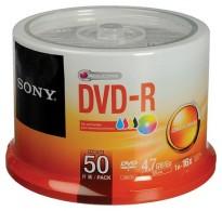 SONY DVD-R 4,7GB 120MIN 16X PRINTABLE CAKEBOX 50PCS