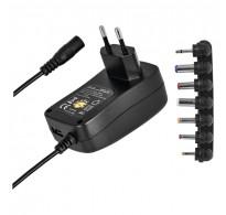 Μετασχηματιστής Τροφοδοτικό 1000mAh + USB + Αντάπτορες