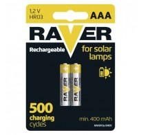 RAVER Rechargeable battery 400mAh HR03 (AAA) BL2
