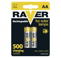 RAVER Rechargeable battery HR6 600mAh (AA) BL2