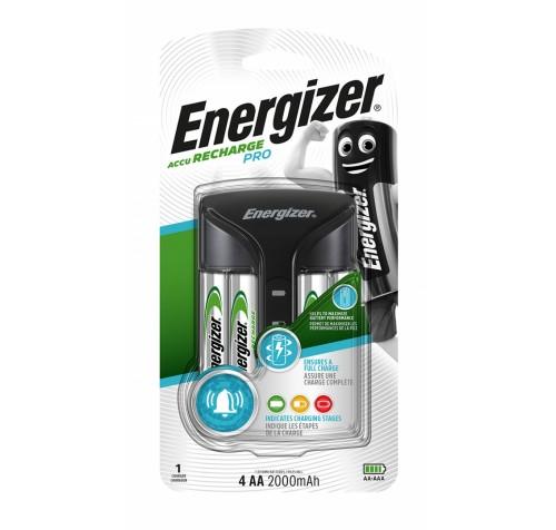 Φορτιστής Energizer ACCU Recharge PRO για AA/AAA με 4 ΑΑ 2000mAh Μπαταρίες