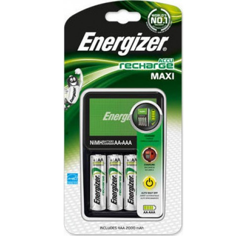 Energizer Maxi Charger + 4x AA 2000mAh