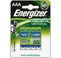 Energizer AAA 500mAh Bl4 Επαναφορτιζόμενες Μπαταρίες