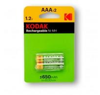 Επαναφορτιζόμενη AAA Kodak K3AHR-2 650 mAh 2 Τεμ Ready to use