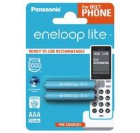 2 x Panasonic Eneloop Lite R03 AAA 550mAh