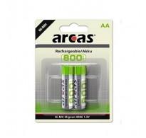 ARCAS ΑΑ 800mAh 1.2V NiMh Μπαταρίες επαναφορτιζόμενες τεμ 2