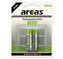 ARCAS ΑΑΑ 600mAh 1.2V NiMh Μπαταρίες επαναφορτιζόμενες τεμ 2
