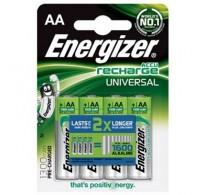 Επαναφορτιζόμενες Μπαταρίες AA, Εnergizer AA-HR6/1300mAh/4TEM, NiMH, 1.2V / 1300mAh (4 Τεμ.)