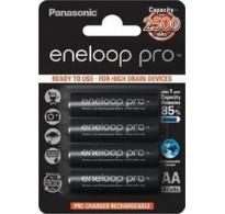 Panasonic Eneloop PRO R6 AA 2500mAh BK-3HCDE/4BE 4XAA