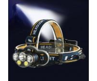 Φακός κεφαλής επαναφορτιζόμενος 5 LED T6 COB 8 Modes + κόκκινο φως