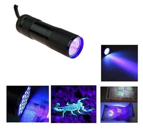 Φακός 9 Led UV με μπαταρίες Για καλαμαριέρες. (Με μπαταρίες)
