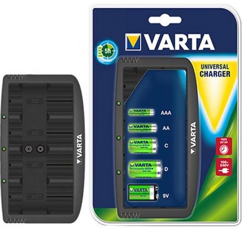 Φορτιστής Μπαταριών Varta LCD 57648 για 2 ή 4 AA-AAA-C-D  +1 x 9V