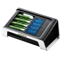 LCD Ultra Fast Charger  for  4 AA / AAA VARTA 57675 + 4 TEM 2400mAh +12v