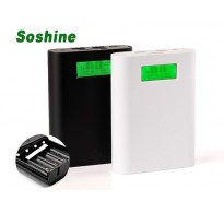 Soshine E3S Dual USB  LCD 18650 Mobile Power Bank 4 θέσεων Επιλογή έως 14000mAh