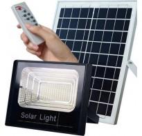 Ηλιακός προβολέας 80W με πάνελ + τηλεχειριστήριο +ανιχνευτή κίνησης