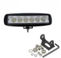 Προβολάκι LED 18W δουλεύει από 12V έως καί 32V για βάρκες τρακτέρ φορτηγά αυτοκίνητα