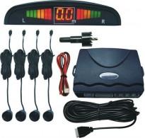 Σύστημα παρκαρίσματος με ψηφιακή οθόνη LED  4 αισθητήρες και ηχητική ειδοποίηση - Μαύρο