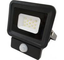 Προβολέας μαύρος LED SMD Basic 10W 220-240V στεγανός IP65 6500K λευκό ψυχρό φως με ανιχνευτή κίνησης