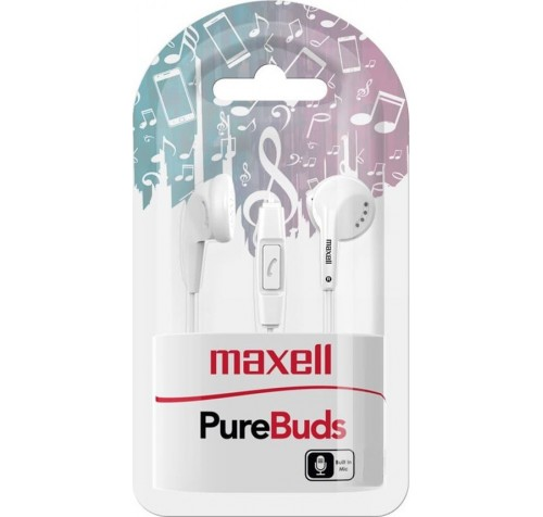 MAXELL PureBuds In-Ear Ακουστικά με Μικρόφωνο Λευκά
