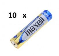 Maxell Alkaline AAA LR03 (10τμχ)