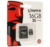 Kingston microSDHC 16GB Class 4 with Adapter